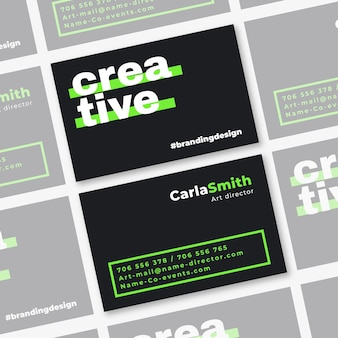 Template for neon business cards