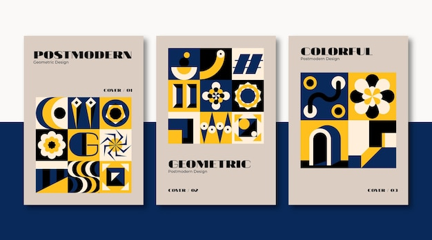 Template of new modernism business covers