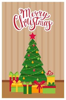 Шаблон новый год, рождественская открытка со словами с рождеством.