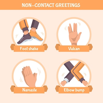 Template non-contact greetings design