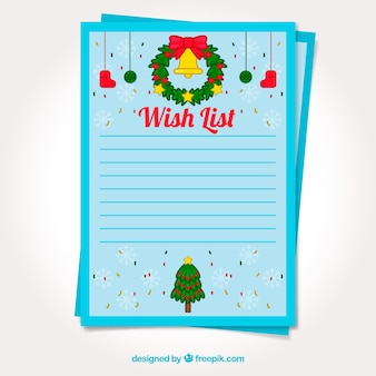 template of a christmas wish list