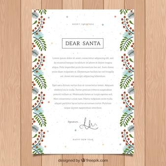 장식 프레임으로 산타에게 편지의 템플릿
