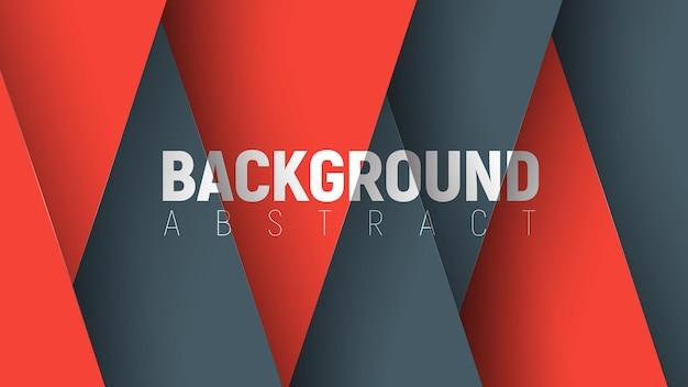 黒と赤の要素が三角形の形で交差するモダンな背景のテンプレート。