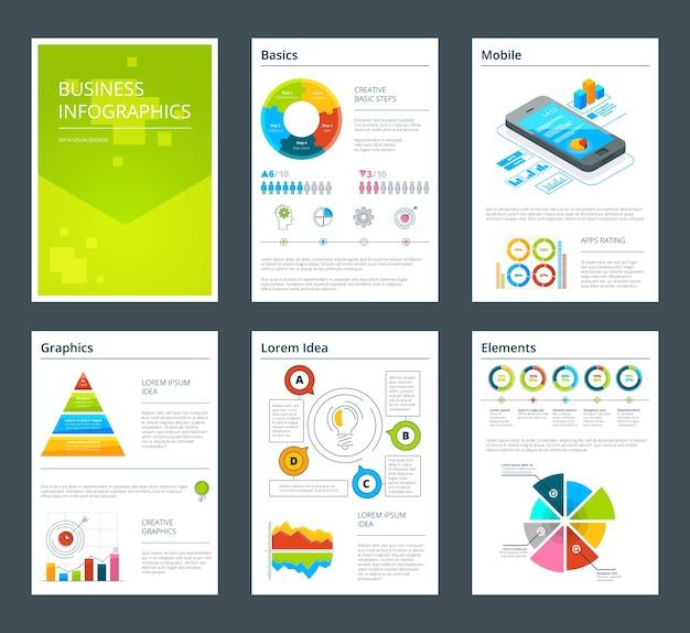 ビジネス年次報告書のテンプレート。年次報告書のイラストのパンフレットチラシ