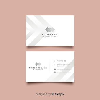 Шаблон элегантной визитки