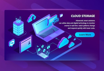 Template of site for cloud storage