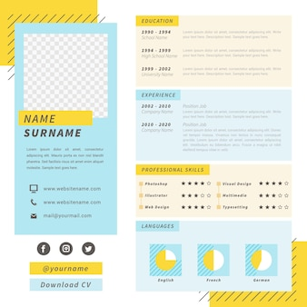 Template for online cv