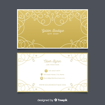 Template ornamental golden business card