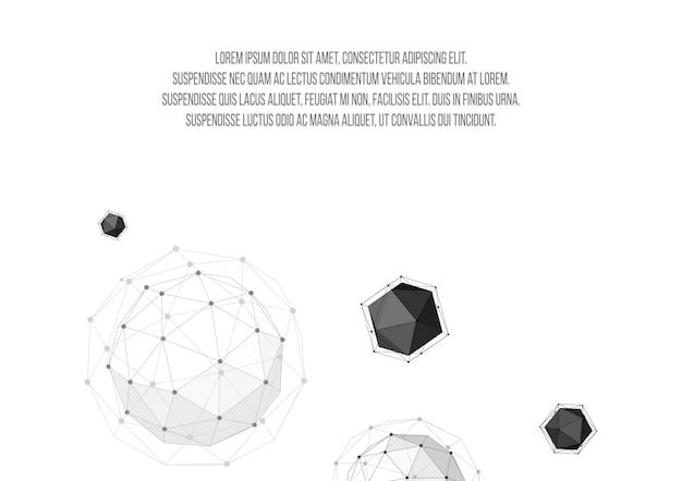 テンプレートページのデザイン。三角形の多角形の幾何学的な背景。創造的な概念ビジネスのための背景レターヘッドとパンフレット。ベクトルイラスト