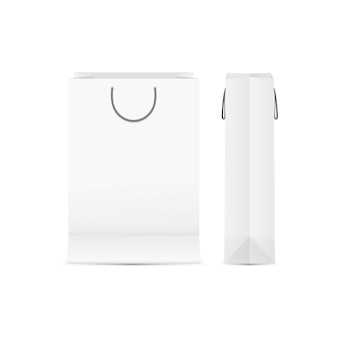 Template of paperbag front and side view