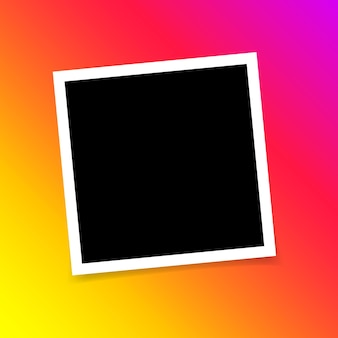 Template photo design photo frame on sticky tape isolated on transparent background