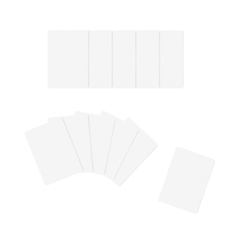 Template poker cards isolated on white background. blank playing cards. vector illustration