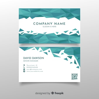 Template polygonal abstract business card