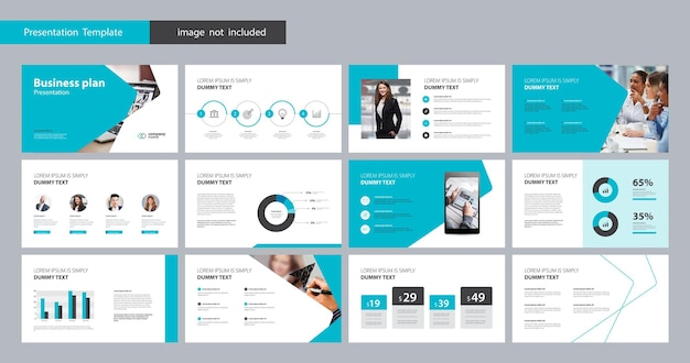 Template presentation design and page layout for brochure