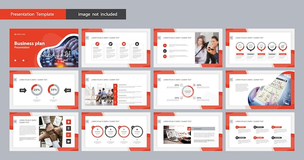 Template presentation and page layout for brochure