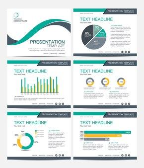 Template presentation slides background design