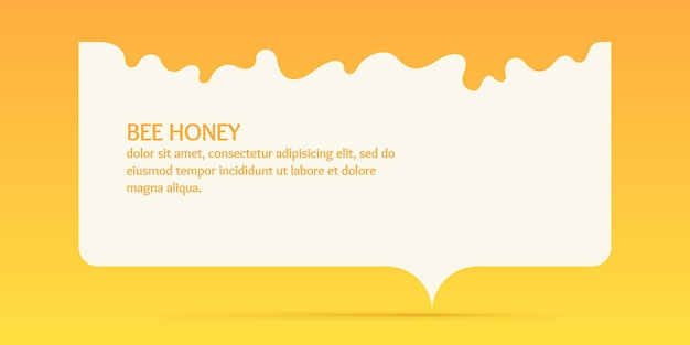 The template for the products of the apiary stylish vector poster for bee honey