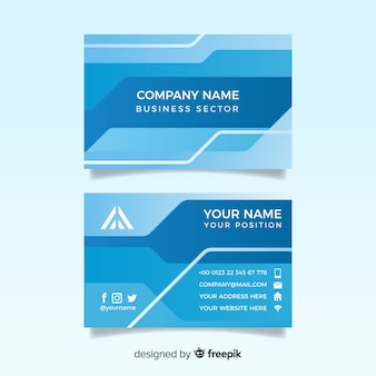 Template professional business card template