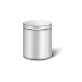 Template of realistic cylindrical metal box