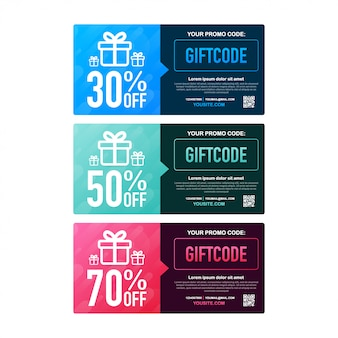 Template red and blue gift card.