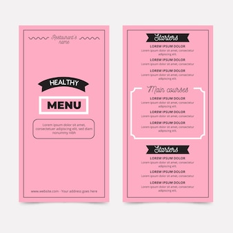 Template for restaurant menu style