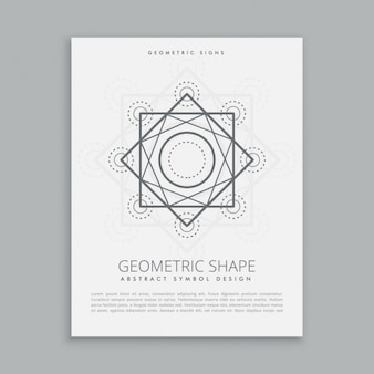 Template of sacred geometrical shapes