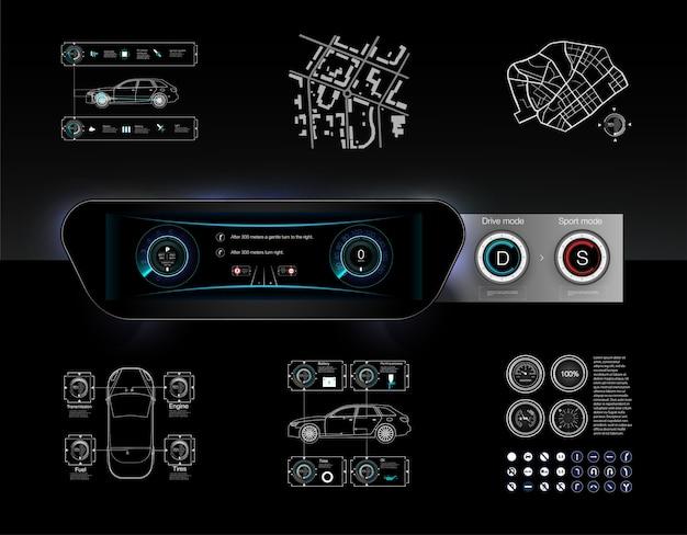 Шаблон-образец приборной панели автомобиля и принцип переключения режимов селектора автомат