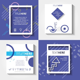 Template set infographic with figures geometrics