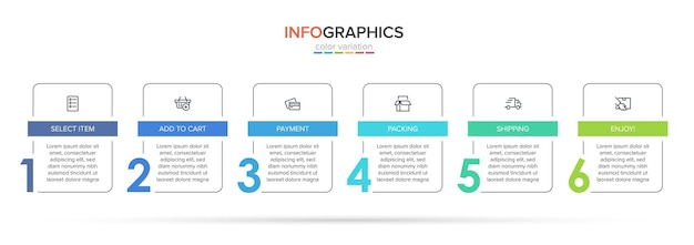 Template for shopping infographics