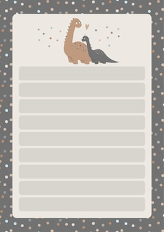 A template for simple planners and to do lists, for kids with cute illustrations in pastel colors.children planners, schedules agenda, checklists.