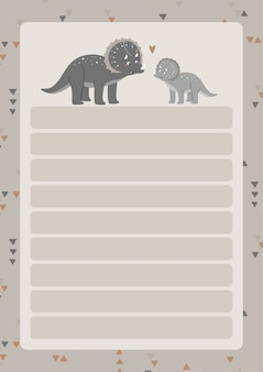 A template for simple planners and to-do lists for kids with cute illustrations in pastel colors.