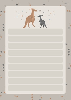 A template for simple planners and todo lists for kids with cute illustrations in pastel colors.children planners, schedules, checklists.