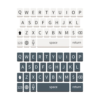 Template of smartphone keyboard