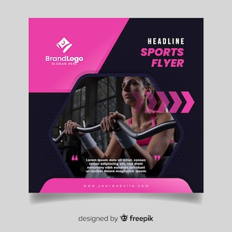 Template sport flyer with image