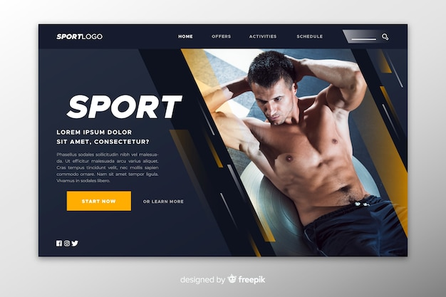 Template sport landing page