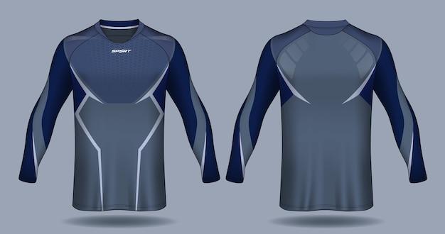 長袖サッカーユニフォームtemplate.sport tシャツデザイン。