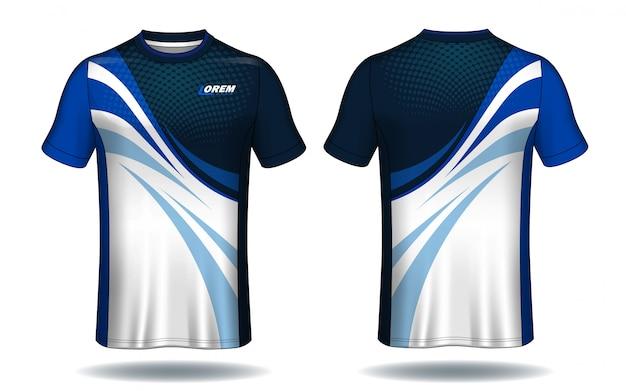 サッカーユニフォームtemplate.sport tシャツデザイン。