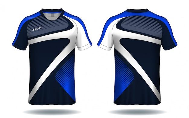 サッカージャージtemplate.sport tシャツデザイン。