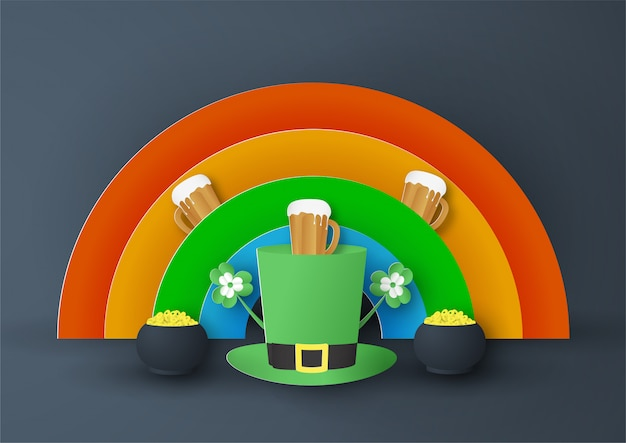 Template for st. patrick's day on sunday
