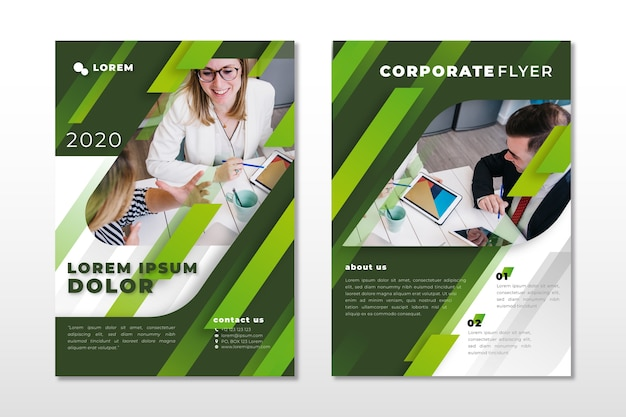 Template style for business with photo