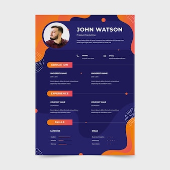 Template style for cv