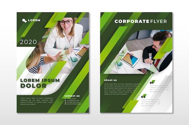 写真付きビジネスのテンプレートスタイル