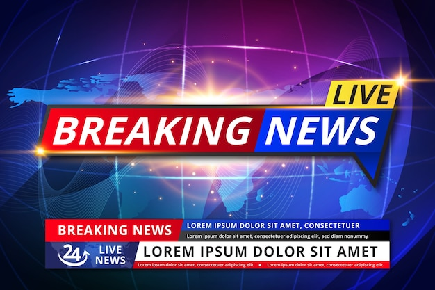 Template style live breaking news