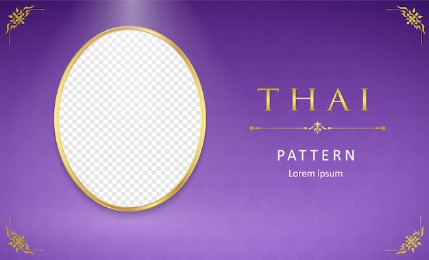 Template thai background with modern line thai pattern