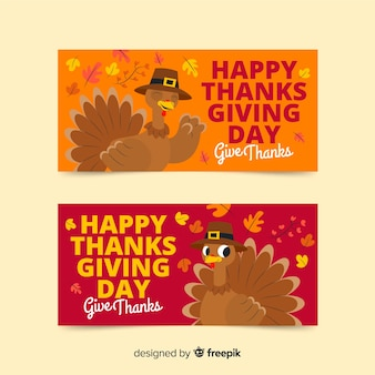 Template on thanksgiving day for banners