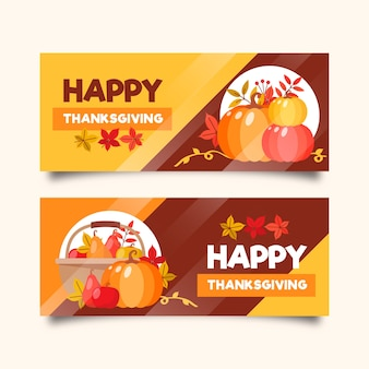 Template for thanksgiving day banners