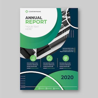 Template theme for annual report