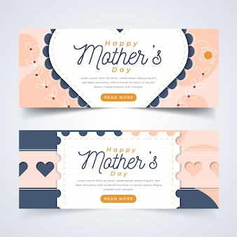 Template theme for banners with mothers day
