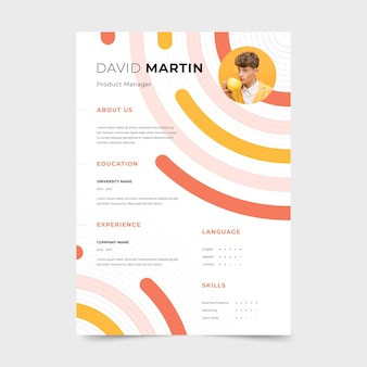 Template theme for cv