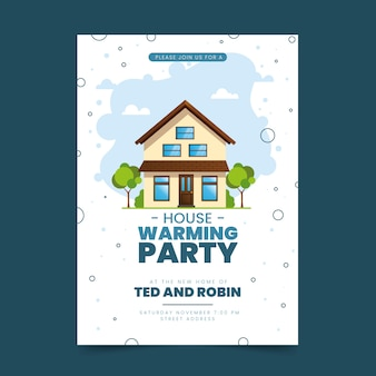 Template theme for housewarming party invitation